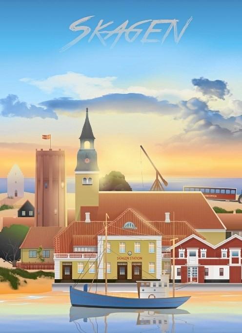 Skagens plakat fra er faktisk et samarbejde mellem Martin Rahr og borgere i Skagen, gennem facebookgruppen Os, der elsker Skagen.