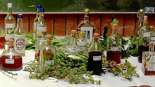 Bordet klar til smagsprøverPrivatfoto