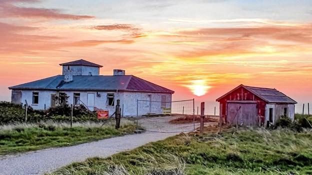 Placeringen alleryderst på Hanstholm Knuden er helt unik - ikke kun når solen går ned.Foto: Ole Iversen Ole Iversen