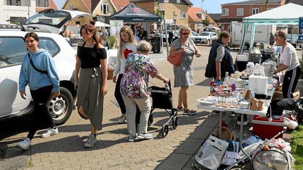 Hals Erhvervsforening skød onsdag torvemarkederne i gang. Foto: Allan Mortensen