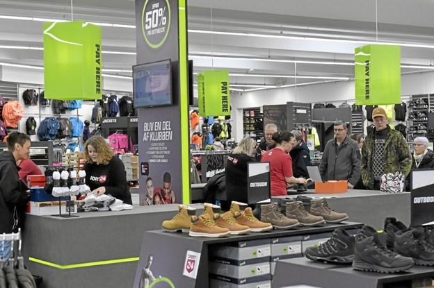1100 kvadratmeter sports-butik er stort for Thisted. Foto: Ole Iversen Ole Iversen