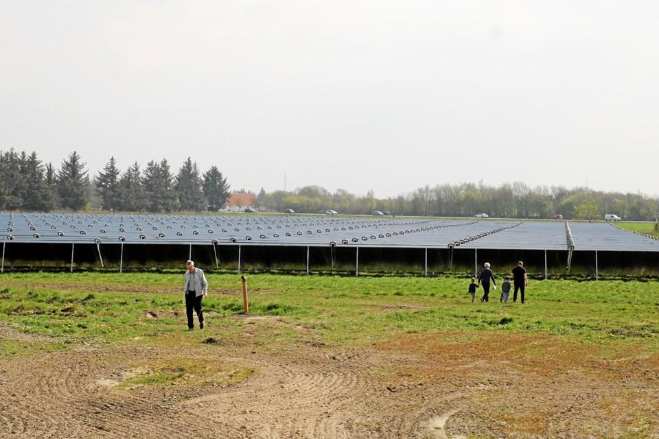 Publikum kunne se se et af landets største solvarmeanlæg. Flemming Dahl Jensen