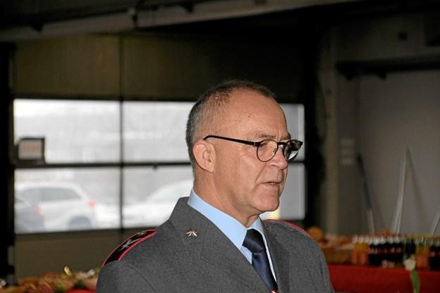 Områdeleder Bjarne Nørgaard holdt talen ved jubilæet. Foto: Hans B. Henriksen Hans B. Henriksen