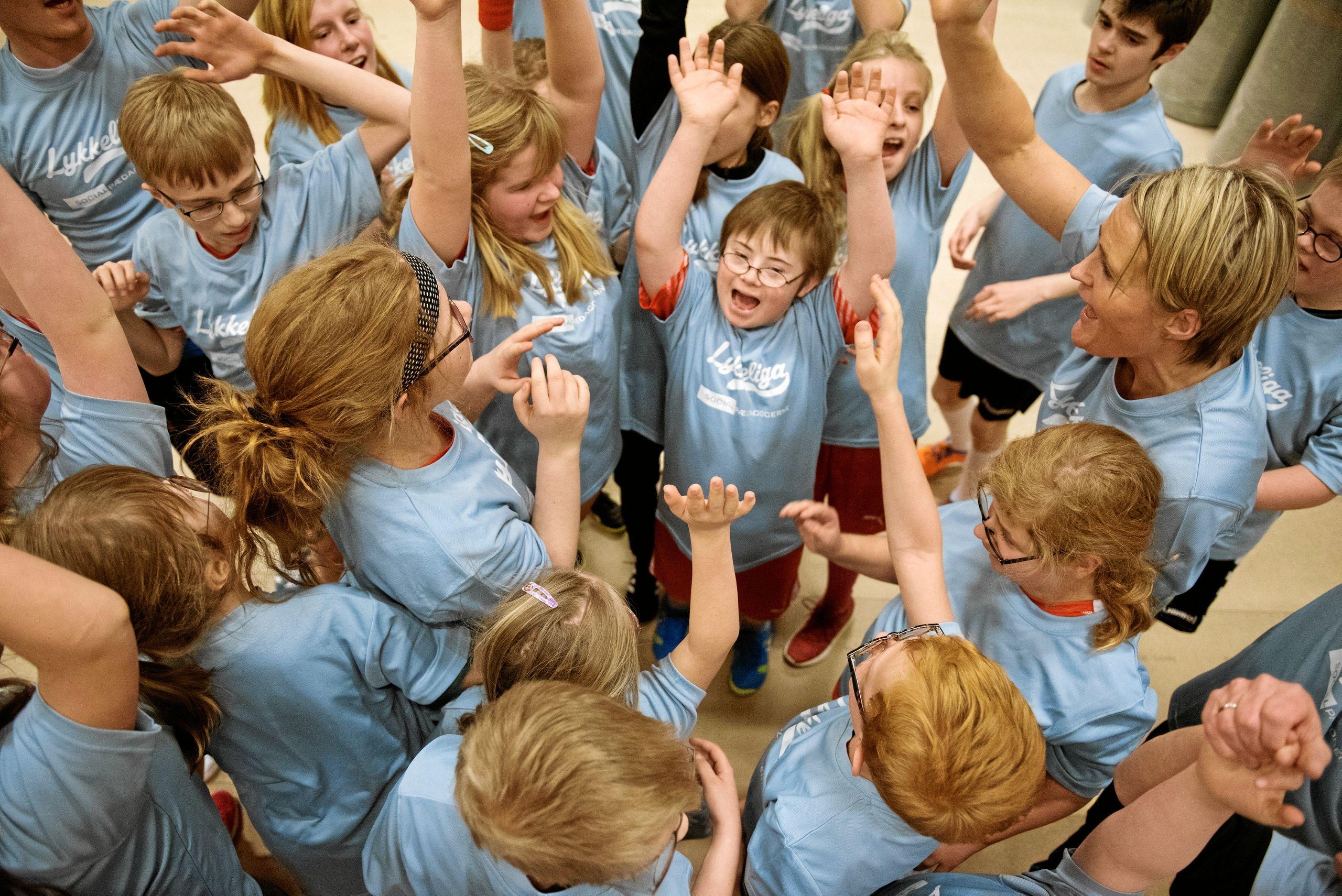 LykkeLiga er håndbold for handicappede børn og unge. På få år har Rikke Nielsen formået at få konceptet bredt ud, så 34 klubber i Danmark plus Grønland og Færøerne nu også er med. Arkivfoto: Tao Lytzen