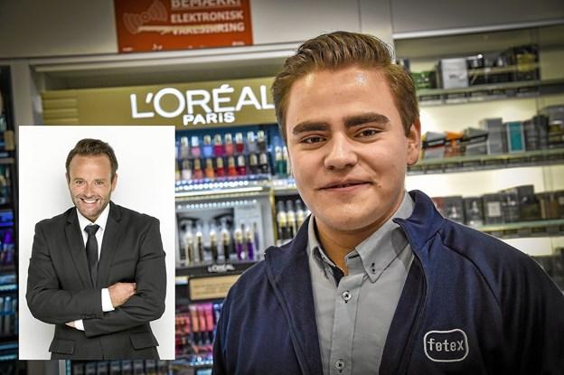 Til skønhedsaftenen i Føtex i aften har Simon Lindgaard Johansen fået stylist og skønhedsekspert Dennis Knudsen til at komme. Foto: Ole Iversen