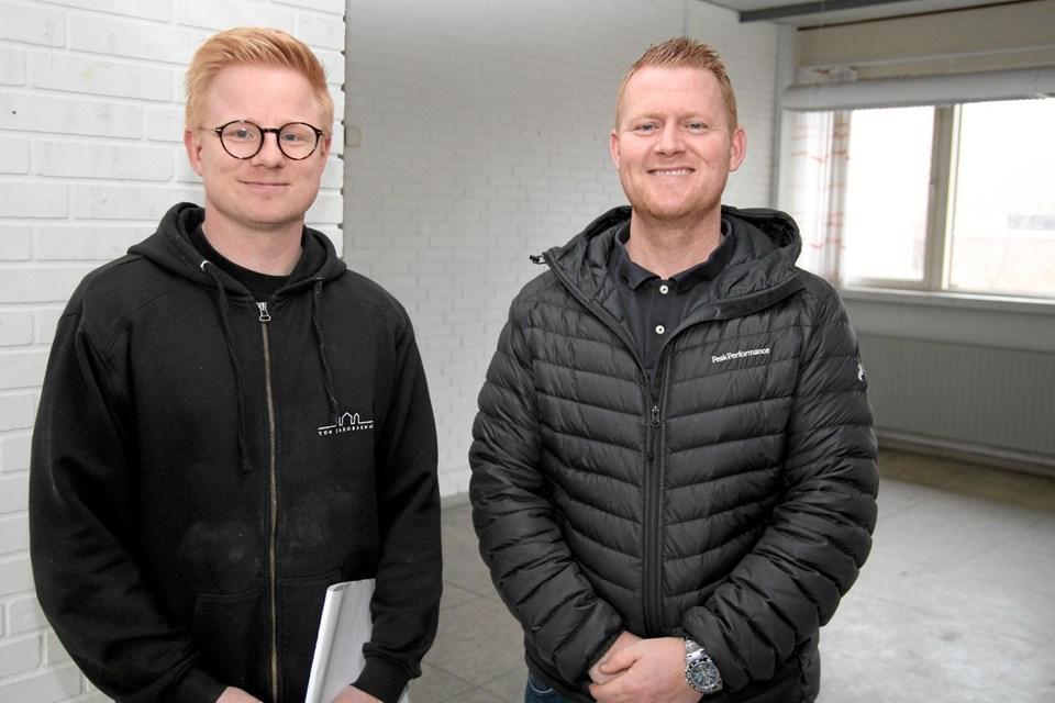Projektleder Flemming Nielsen fra firmaet Tom Jakobsen og Morten Grimm fra EDC Danebo, Aabybro. Flemming Dahl Jensen