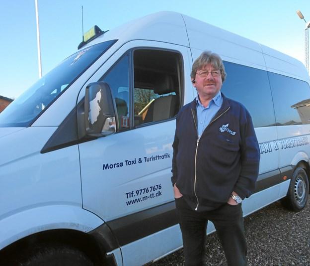 Fotos: Dorit Glintborg. Leif Andersen vandt med Morsø Taxi & Turisttrafik licitationen over buskørslen her på øen, og har siden hen også fået en del af skolekørslen i Skive samt rute 709 Oddense-Nykøbing.
