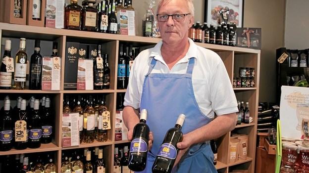 """Poul Nimand, har sin egen """"Ostemandens"""" vin på vinreolen. Foto: Peter Jørgensen Peter Jørgensen"""