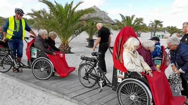 At være cykelpilot skaber glæde for både passagerer og piloter. Foto: Mogens Lundholm