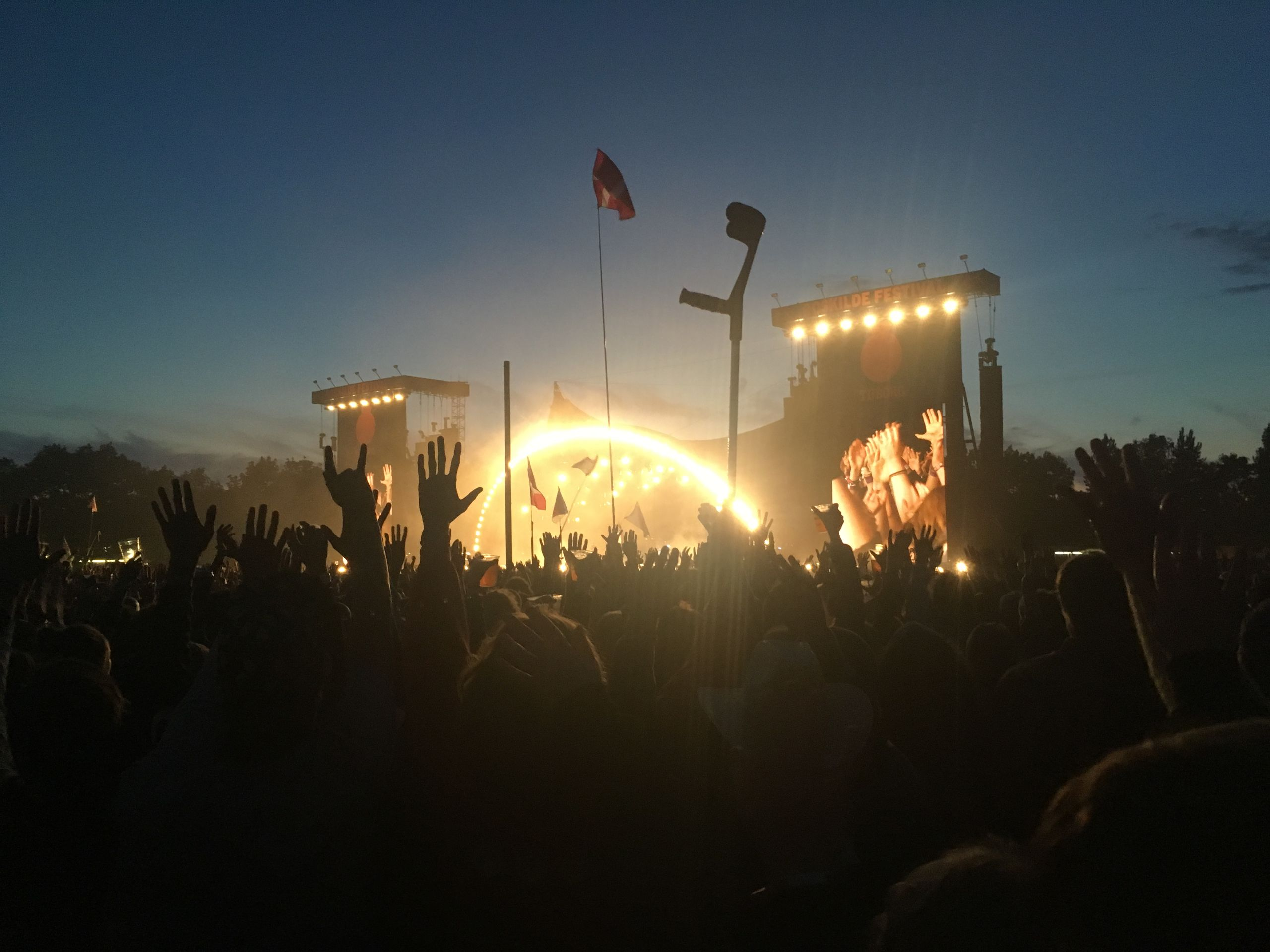 Skal du på Roskilde Festival i år - så er der netop lanceret en nem transportløsning. Foto: Scanpix