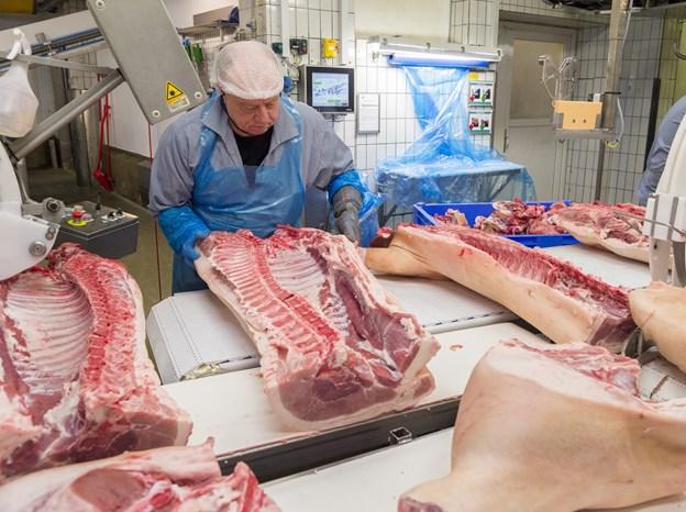 Slagteriet i Sæby øgede antallet af slagtninger med over otte procent i 2018. En fortsat vækst fordrer, at man får nedsat grisenes klimaaftryk - og det har koncernen en klar plan for. Arkivfoto: Kim Dahl Hansen