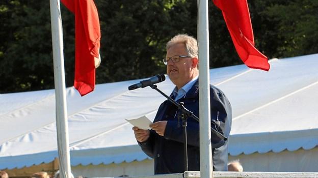 Borgmester Mogens Christen Gade holder åbningstalen.Privatfoto: LandboNord