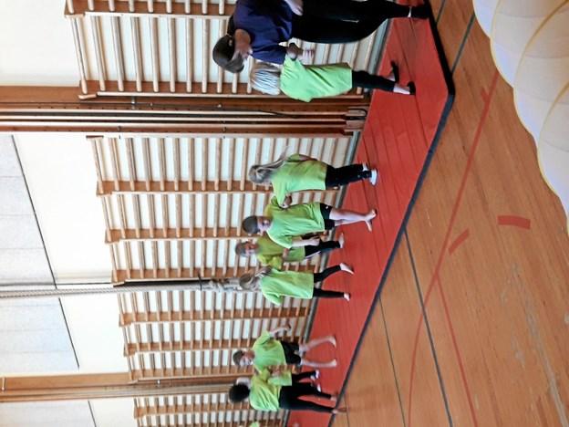 Flot show af de unge gymnaster. Foto: Privat Privat
