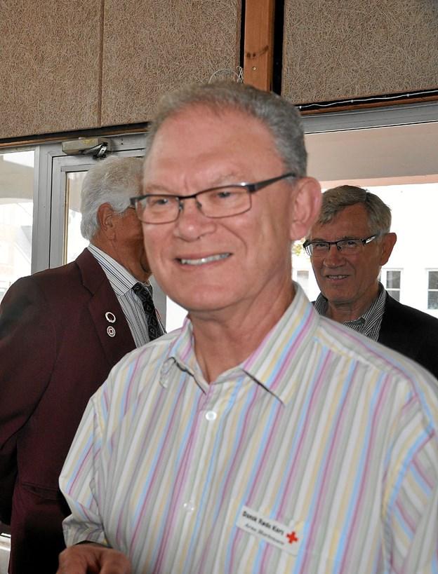 Arne Bent Mortensen er kasserer i Røde Kors, og han opfordrer interesserede til at møde op til informationsaftenen. Foto: Ole Torp