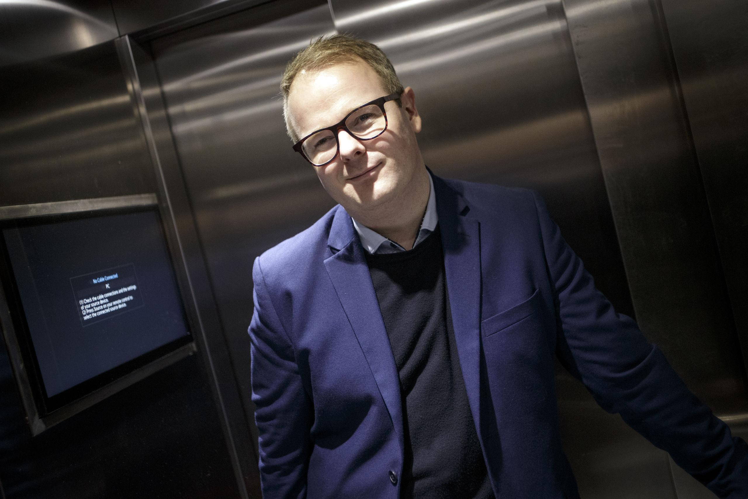 Emil Hauge glæder sig til at byde gæsterne velkommen. Foto: Martel Andersen