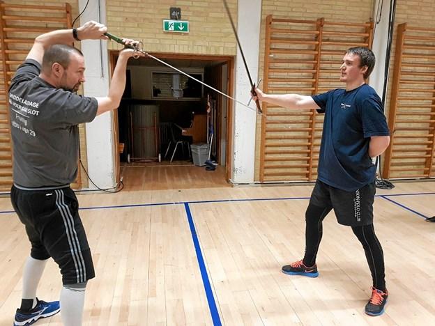 Der er mange positioner, som trænes igen og igen. Foto: Karl Erik Hansen