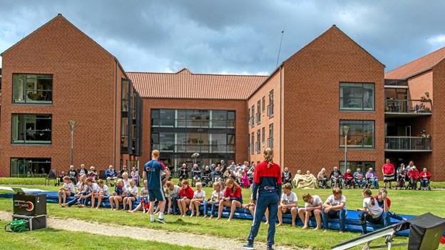 De dygtige gymnaster fra Team Gym Himmerland, Aars, fik stort bifald. Foto: Mogens Lynge Mogens Lynge