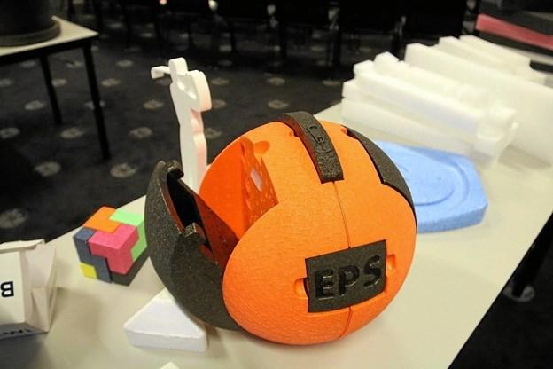 Eps - er en opskummet plast, som består af 98 procent luft og 2 procent polystyren -  som det fremgår, anvendes til forskellige produkter. Privatfoto