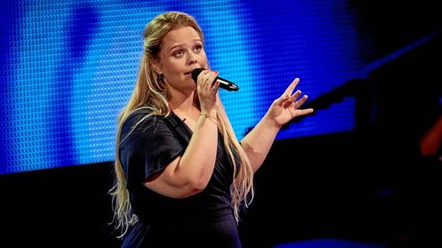 5017e4aa83a Line Amalie fra Hjørring lagde stemme og indlevelse til, da hun stod på  scenen i
