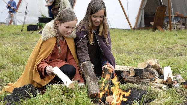 Der vil både være aktiviteter for børn og voksne til årets vikingemarked. Arkivfoto: Michael Bygballe