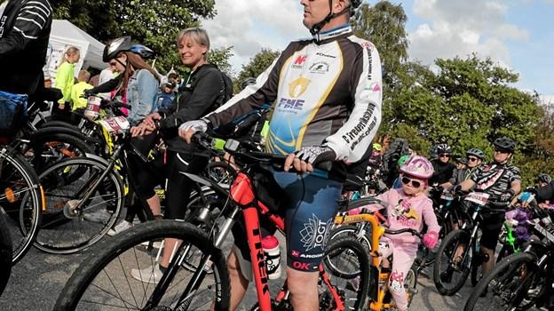 Nadja på 5 år var med sin på HyggeCykelruten på cykelefterfølgeren. Foto: Peter Jørgensen Peter Jørgensen