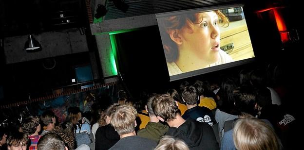 Seks kortfilm var udvalgt til at konkurrere om de eftertragtede priser ved årets filmfestival på Dronninglund Gymnasium. Foto: Jørgen Ingvardsen