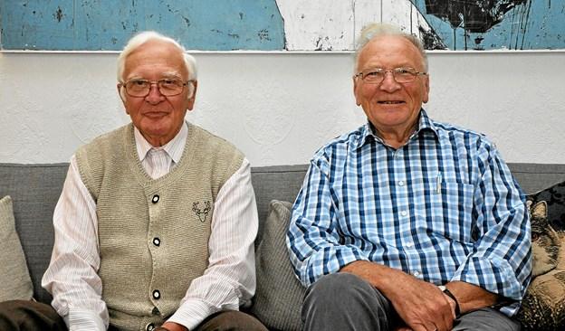 Otfried og Ulrich husker deres tid på Dronninglund Slot som en god tid, hvor de følte sig trygge. Foto: Ole Torp