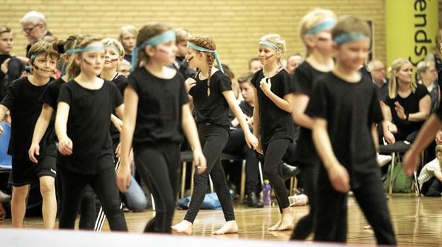 Lørdagens opvisning omfattede 11 lokale hold. Foto: Allan Mortensen Allan Mortensen