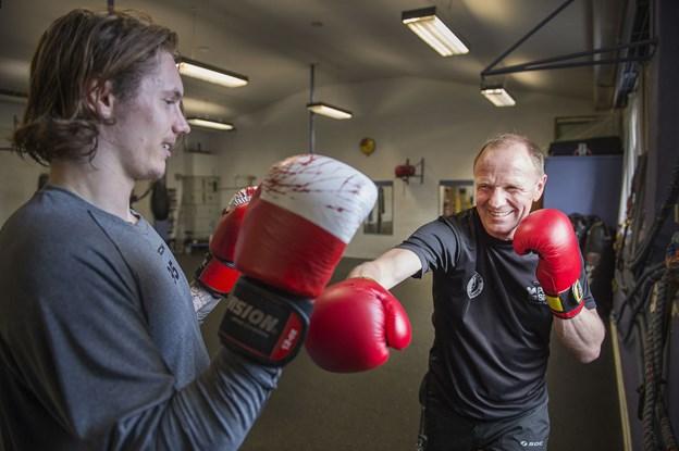 Bokseformand Preben Arvidsson inviterer interesserede til at kigge forbi i Bokseklubben Pugilist i Frederikshavn. Arkivfoto: Hans Ravn