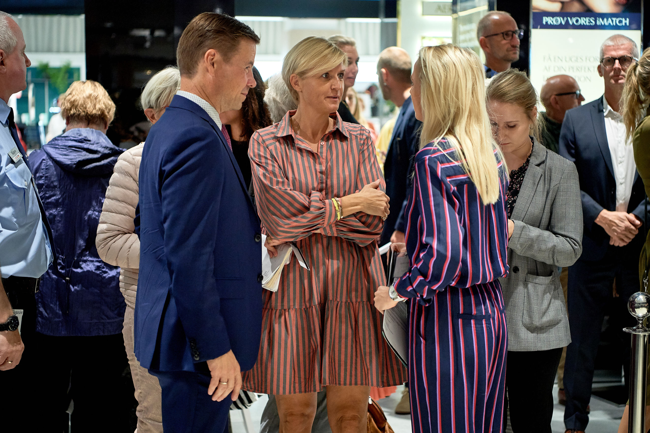Borgmester Thomas Kastrup-Larsen fik en snak med nogle af de ansatte.
