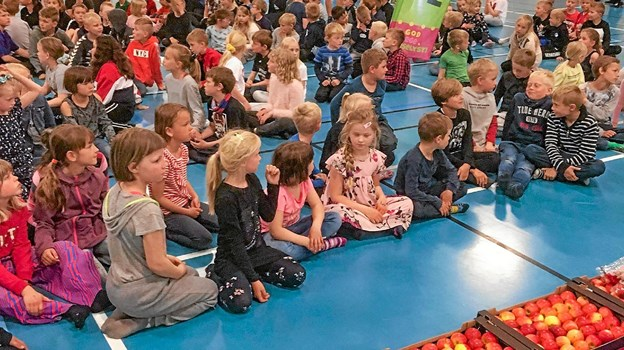 Børnene gik på med stor gejst, fortæller Carl Søgaard fra Hurup Bibliotek. Privatfoto Ole Iversen