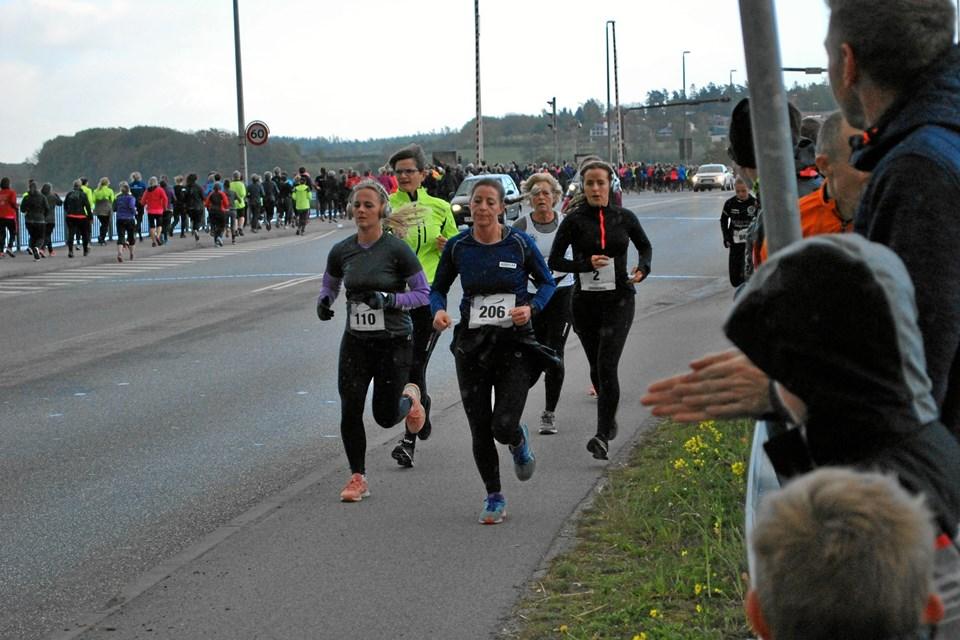 Det var et flot syn med de mange kvinder i bevægelse ude på ruten. Privatfoto