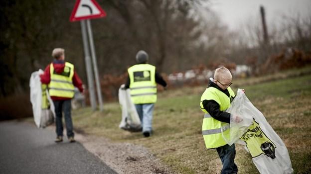 Danmarks Naturfredningsforening samler Danmarks sejeste affaldsindsamlere fra 25. til 31. marts - det bliver et tilløbsstykke. Arkivfoto: Martin Damgård