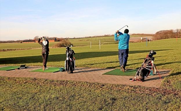 Golfspillerne er allerede på græs. Foto: TM & E-Air-view.dk