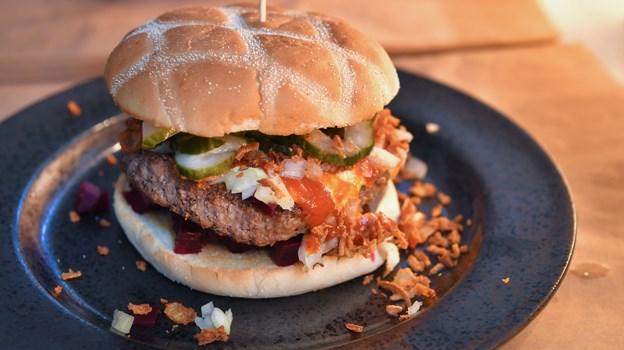 Der er mange klassikere på menukortet hos Kastet Grill & Burger. Foto: Hans Ravn