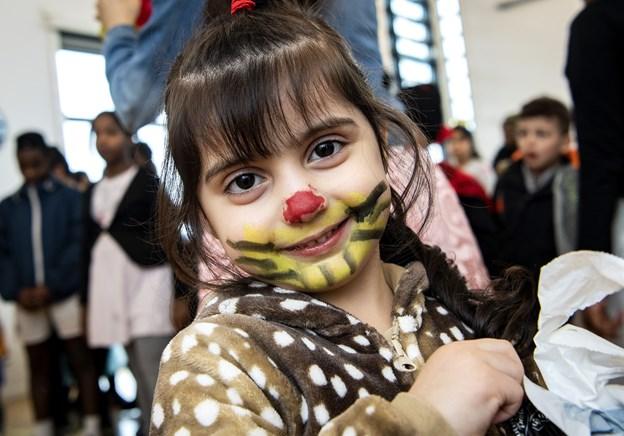 Der var mange flot udklædte børn i fælleshuset til fastelavn. Foto: Henrik Bo