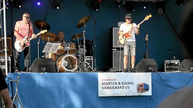 Up the Wasoo leverede hårdtslående rock. Foto: Allan Mortensen