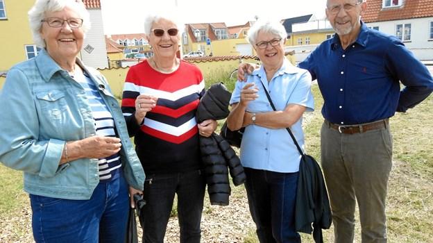 Folk fra boligselskabet Domeas lokal afdeling Udsigten i Hirtshals, flankeret med formand Jens Christensen helt ude til højre. Foto: Jens Brændgaard