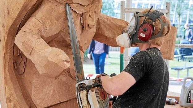 Det er syvende år i streg, at træskulpturfestivalen afholdes i Skulturparken Blokhus.Foto: Poul Nymark POUL NYMARK