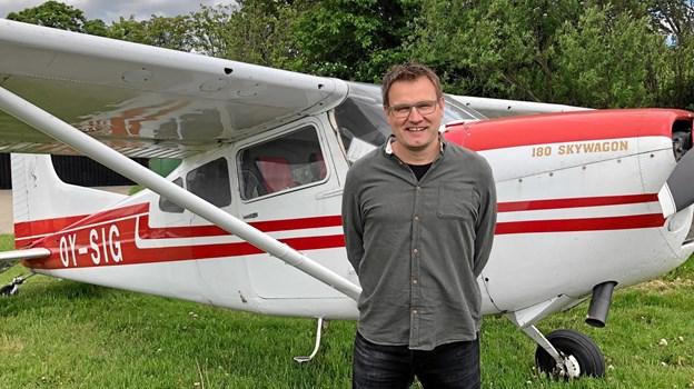 Peter Hedelund skal stå i spidsen for den kirkelige og humanitære flyorganisation MAF Danmark, som har hjemme i Aabybro. Privatfoto