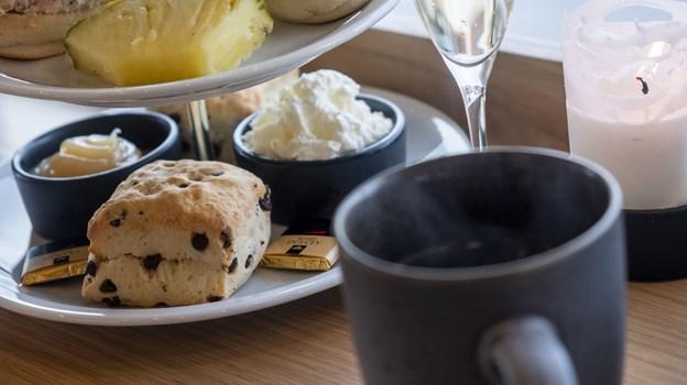 Afternoon tea er en nyhed på Salling Rooftop. Foto: Lasse Sand