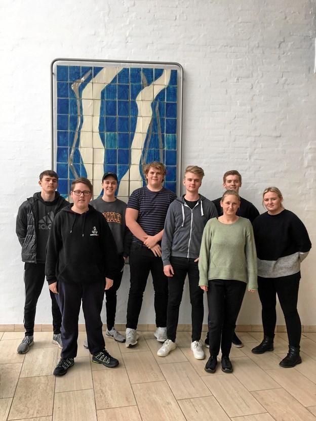 En tur til Brighton i Englang gik rent hjem hos en flok elever fra EUC Nordvest-elever. Privatfoto