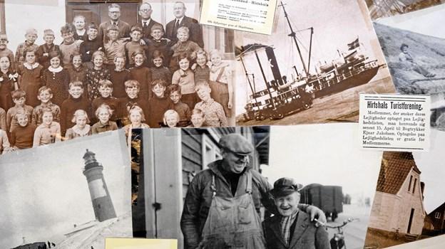 Baren og skabe er pyntet med udklip fra gamle Hirtshals kalendere og avisudklip. Foto: Niels Helver