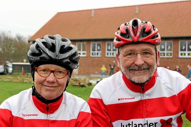 Else Ramsgaard og Sverre Wognsen fra Motionscykelklubben Himmerland fører i den samlede stilling i klassen for par efter sæsonens fire første løb. Privatfoto