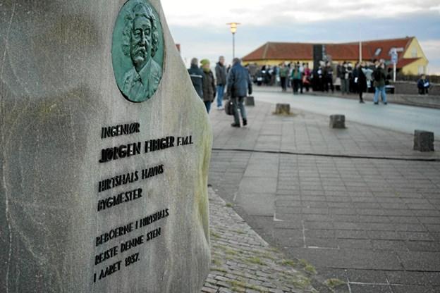 Hirtshals 100 års jubilæum blev blæst i gang. Foto: Peter Jørgensen