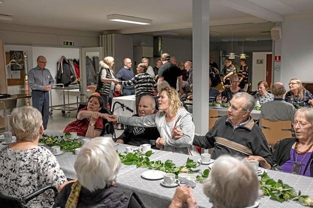Bo Young skabte en forrygende stemning, og i løbet af et øjeblik sang alle med på de populære sange. Foto: Niels Helver Niels Helver
