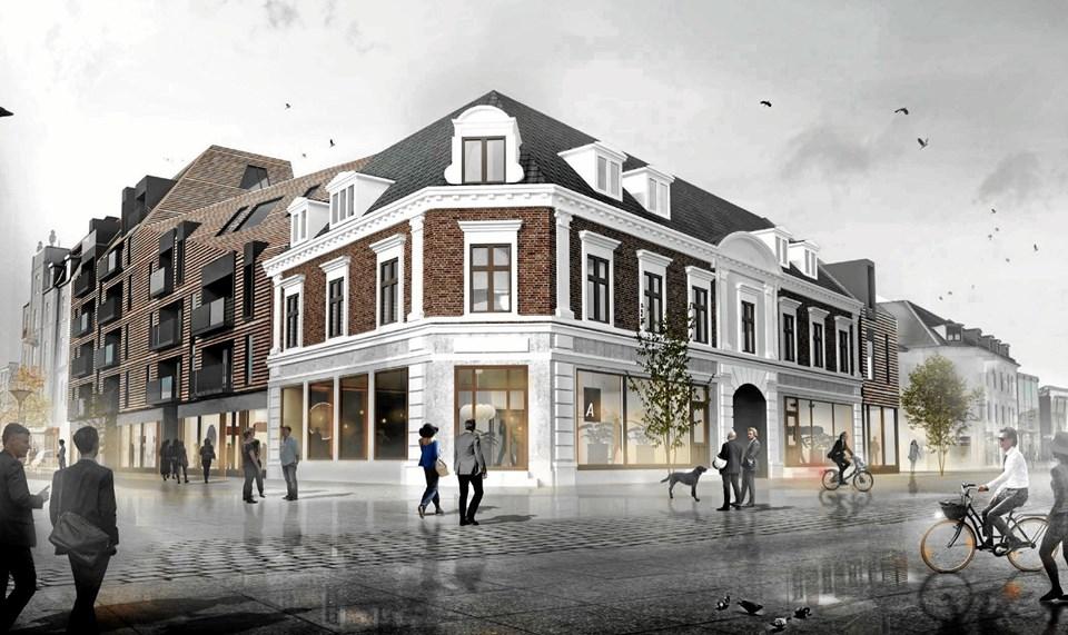 Det samlede byggeri bliver på 8.500 kvm.ILLUSTRATION: arkitektfirmaet C. F. Møller, Aalborg