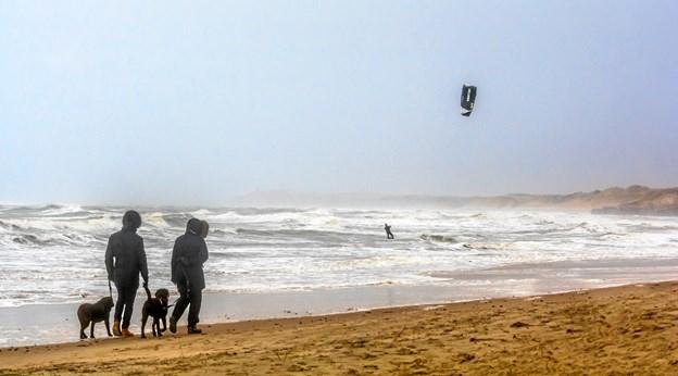 En eftermiddag med mix af sand, regn, sol, og blæst. Foto: Randi Møgelmose