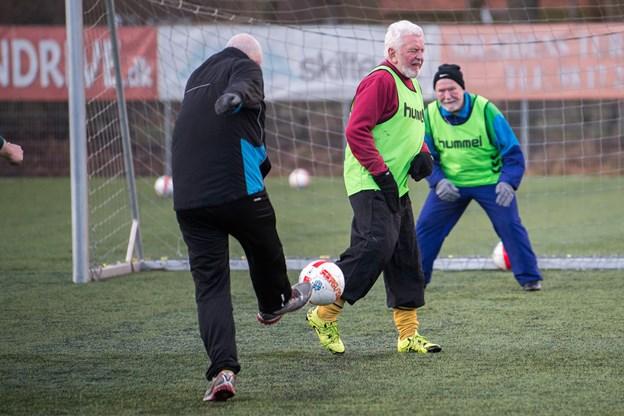 Motionsfodbold for ældre er et af fokuspunkterne. Arkivfoto: Andreas Falck
