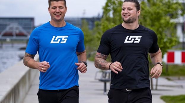 Morten (tv) og Kasper Fruensgaard udgør to-tredjedele af Life of Sport, som står bag en masse løb i Aalborg og omegn. Foto: Lasse Sand